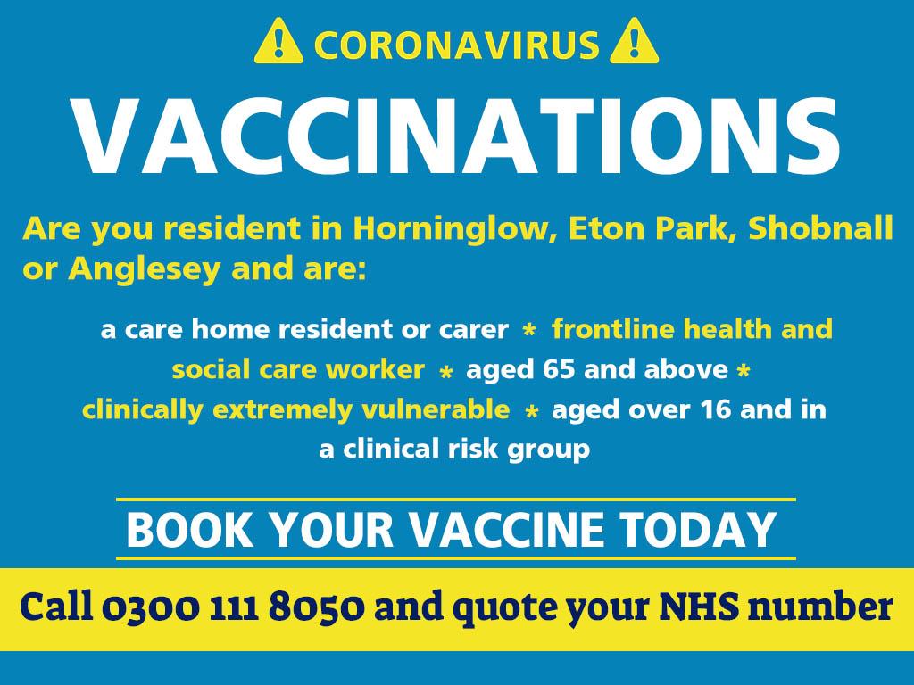 Burton vaccination drive